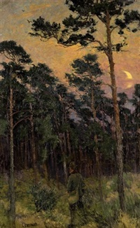 evening at woods by carl hessmert