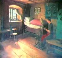 in einer otztaler bauernstube by wilhelm lindner
