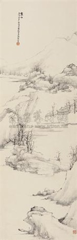 寒山图 landscape in winter by xiao junxian