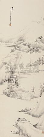 寒山图 landscape in winter by xiao junxian