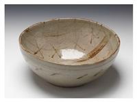 a e-seto bowl with kasuri patterns by kitaoji rosanjin