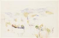 paysage montagneux, environs d'aix by paul cézanne