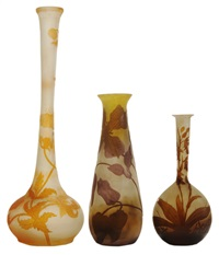 vases (3 works) by émile gallé