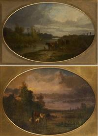 troupeaux au coucher (+ lever du soleil; 2 works) by antonio cortés cordero