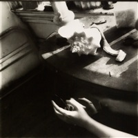 but lately i find a sliver of a mirror is simply to slice an eyelid by francesca woodman