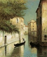 italienische kanalansicht by angelo pisani