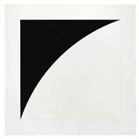 first curve series (2 works) by ellsworth kelly