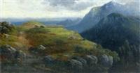 hochalm in den bayrischen alpen by carl le feubure