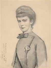 kaiserin elisabeth von österreich, porträt der kaiserin by georg raab