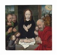 the adoration of the shepherds by flemish school-bruges (16)