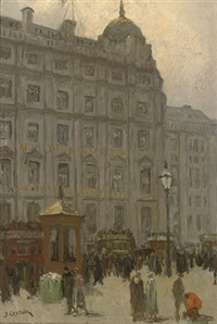 a busy day in london by jacobus cornelis wyand cossaar