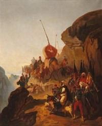 le retour d'une colonne après une razzia (study) by louis eugène ginain