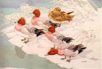 widgeon by a frozen pond by noel william cusa