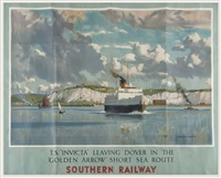 southern railway, t.s. invicta by norman wilkinson