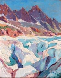 la mer de glace by louis eugène glasser