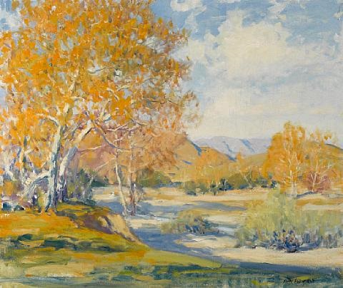 along the river bank by arthur hill gilbert
