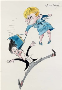 the clunking handbag by gerald scarfe