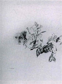 portrait et fleurs by ida barbarigo