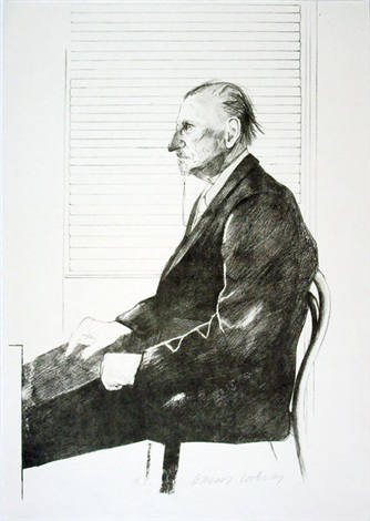 portrait felix h man the print collector pl 2 from europäische graphik v by david hockney