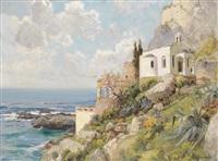 kirche an der steilküste von capri by jenö karpathy