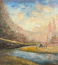 montañas y rio by fermin santos