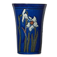 vase incised with daffodils by william percival jervis