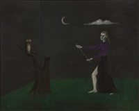 stage fright (self-portrait) by gertrude abercrombie