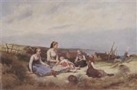 repos de la famille sur la grève by charles auguste romain lobbedez