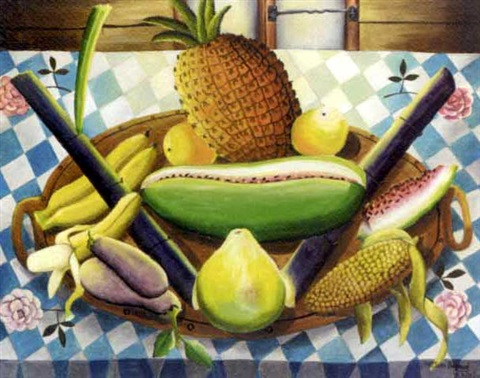still life with fruit by wilson bigaud
