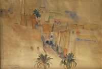 landscape in algiers by abram adolphe milich