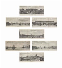 views of st. petersburg (7 works) by nicolas louis de lespinasse