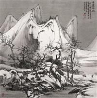 雪霁归旅图 by xu jiechuan