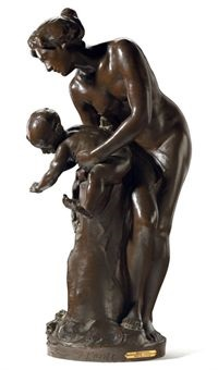 mother and child: the bath by isidore konti
