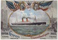 """""""la savoie,"""" compagnie général transatlantique, french line, new york - paris by fred pansing"""