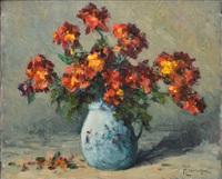 bouquet au pichet de porcelaine by narcisse henocque