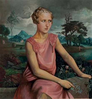 portrait de nicole wagner by alfred louis courmes