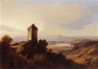 vieille tour dans la campagne by jean-antoine-simeon fort