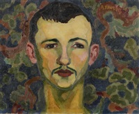 portrait d'homme à la moustache by andré favory