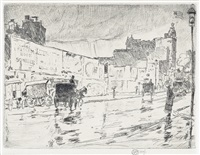 the billboards, new york by childe hassam