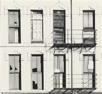 broken windows and fire escape (wells street, chicago) by harry callahan