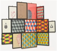 untitled (corner installation) (in 13 parts) by barry mcgee