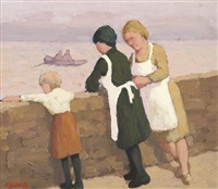 the harbour wall and pure and simple (2 works) by norman smyth