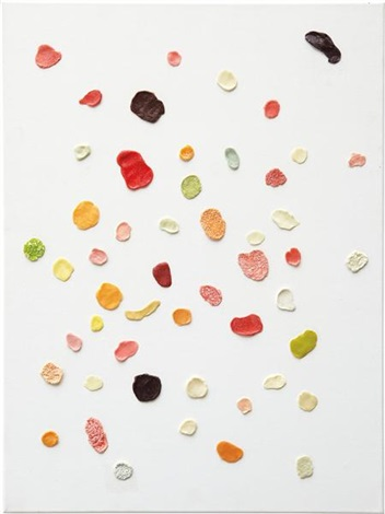 this painting will fit over your sofa by dan colen