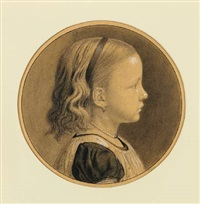 a little girl dagmar vilhelmine falk seen in profile by peder severin krøyer