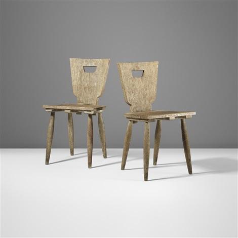 chaises rustiques pair by jean royre - Chaise Rustique