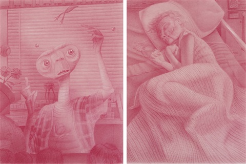 et and grandma diptych by gerald davis