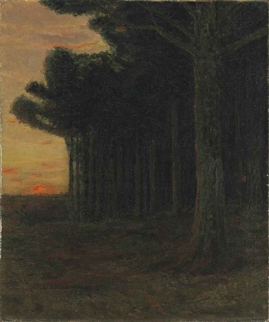 white pine trees connecticut by charles warren eaton