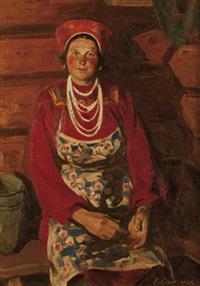 a milkmaid from mordovia by maikhail e. samsonov