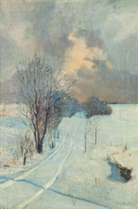 winter shadows by ralph wallace burton