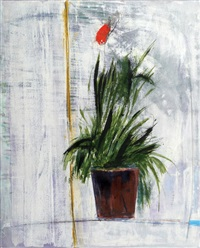 plant with red flower by salah alkara